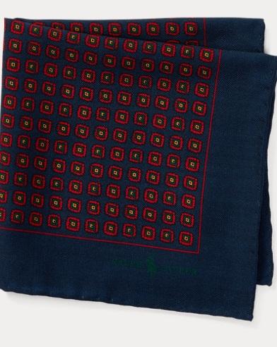 University Wool Pocket Square