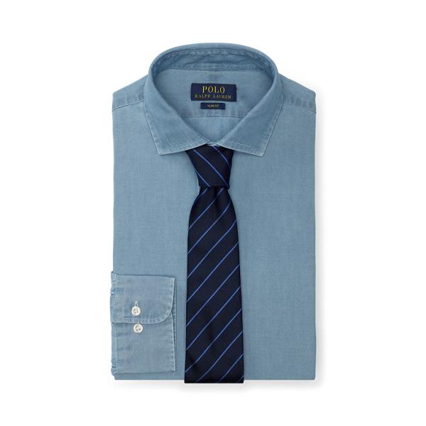 폴로 랄프로렌 셔츠 (슬림핏) Polo Ralph Lauren Slim Fit Chambray Shirt,French Blue/White