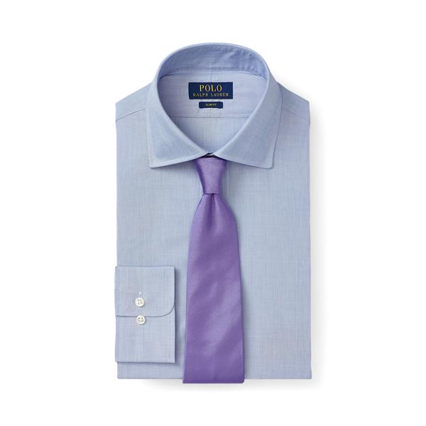 폴로 랄프로렌 셔츠 (슬림핏) Polo Ralph Lauren Slim Fit End-on-End Shirt,Mediterranean Blue