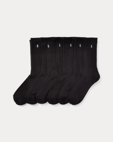 Cotton-Blend Crew Sock 6-Pack
