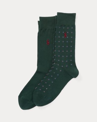 2er-Pack gepunktete Socken