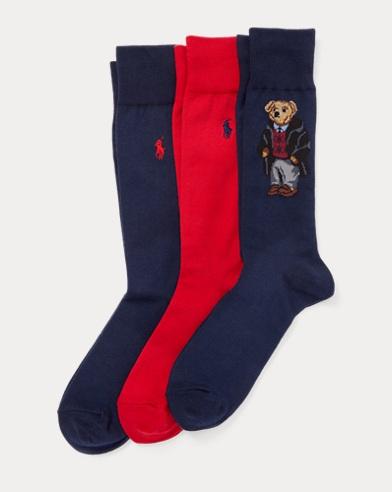 Paquete de 3 calcetines con el osito Polo