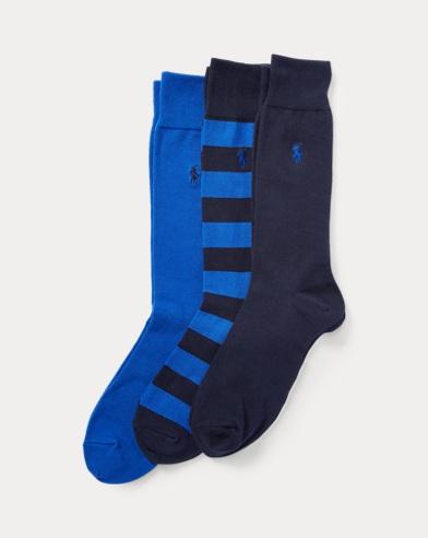 Paquete de 3 pares de calcetines de rugby en mezcla de algodón