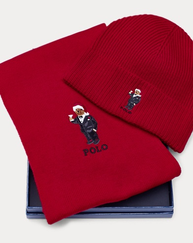 Polo Bear Scarf & Hat Set