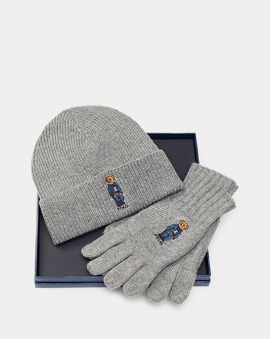 Polo Bear Hat & Glove Set