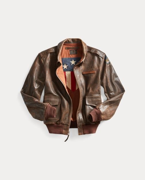 Leather Flight Jacket ee912fc45e8
