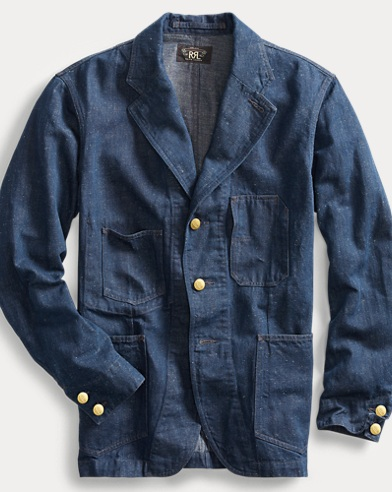 Cotton-Hemp Denim Sport Coat