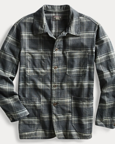 Plaid Cotton Shirt Jacket