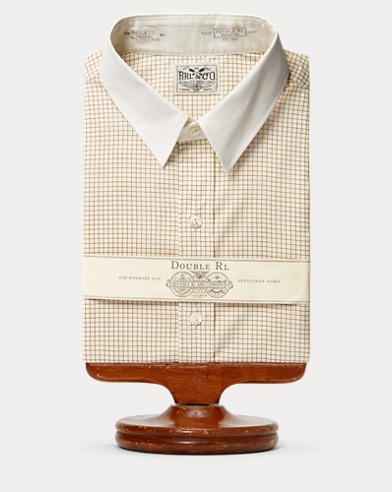 Windowpane-Print Woven Shirt