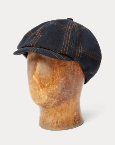 Plaid Cotton Crepe Newsboy Cap