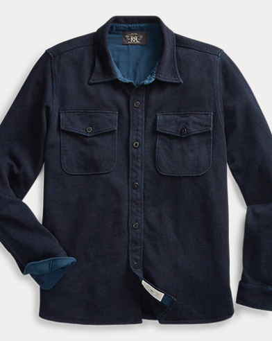 Indigo French Terry Shirt