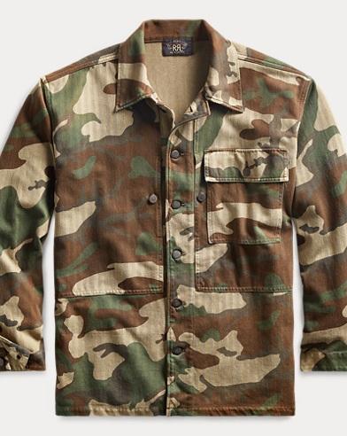 Camo-Print Jersey Overshirt