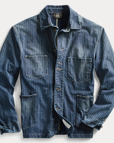 Indigo Striped Jersey Jacket
