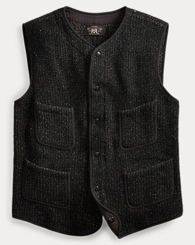 Indigo Knit Cotton-Silk Vest