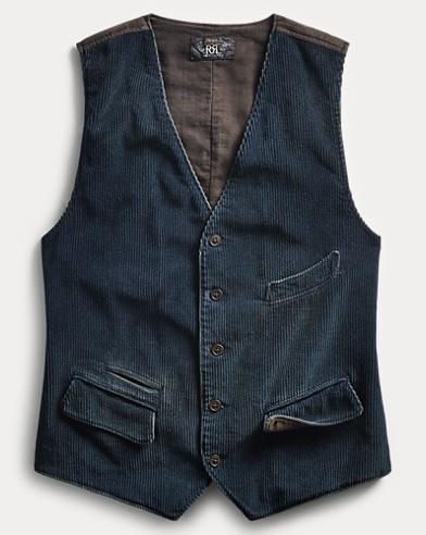 Indigo Corduroy Vest