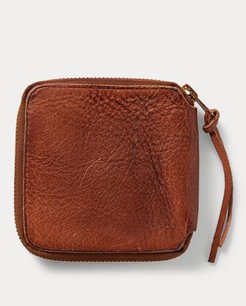 d6fc37d58abc produt-image-1.0. produt-image-2.0. MEN ACCESSORIES Wallets   Small  Accessories Tumbled Leather Zip Wallet