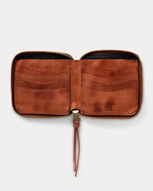 8f16c3e6616b RRL Tumbled Leather Zip Wallet 3