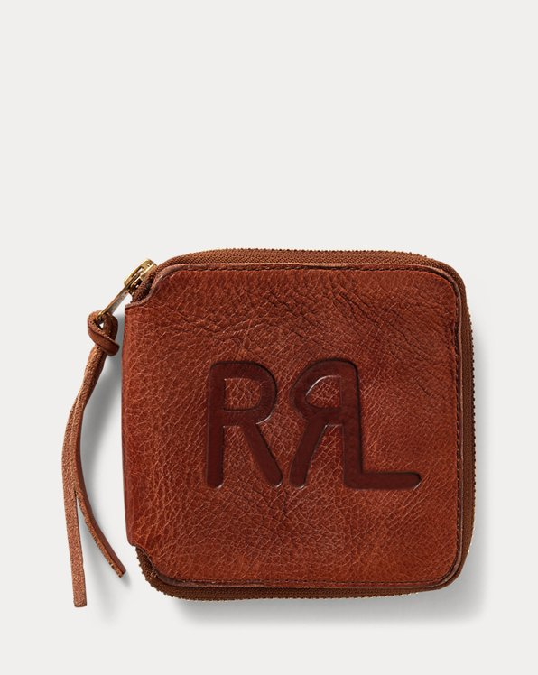 Tumbled Leather Zip Wallet