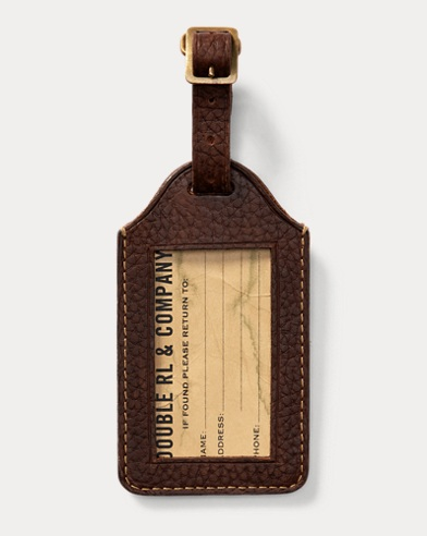 Pebbled Leather Luggage Tag