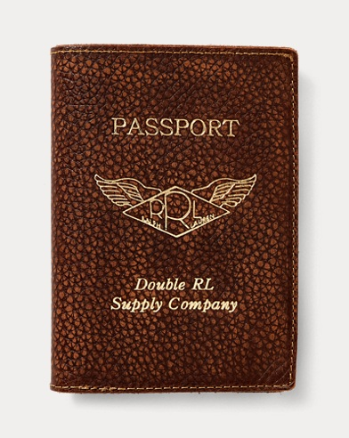 Pebbled Leather Passport Case