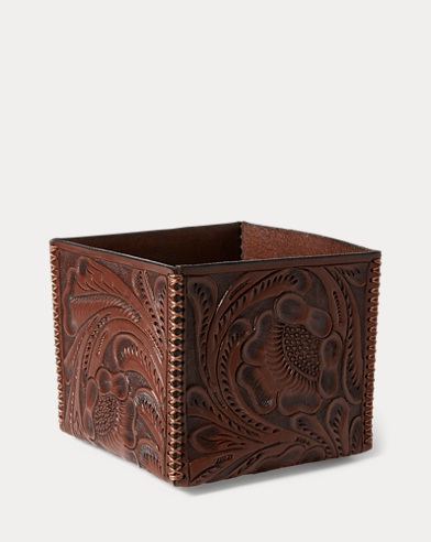 Tooled Leather Storage Box