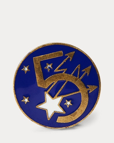 Enameled Star Pin