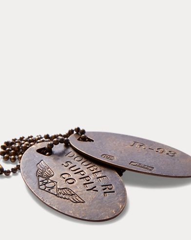 Brass Dog-Tag Necklace