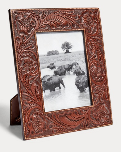 Hand-Tooled Leather Frame