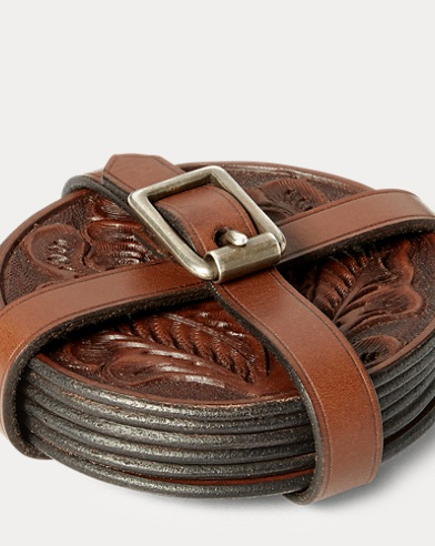 Tooled Leather Coaster Set