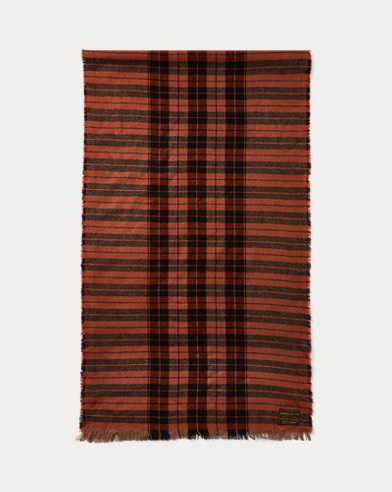 Plaid Wool-Cashmere Scarf