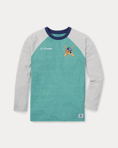 T-shirt de baseball Polo Bear