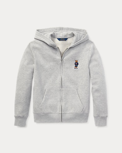 Fleece-Kapuzenjacke mit Polo Bear