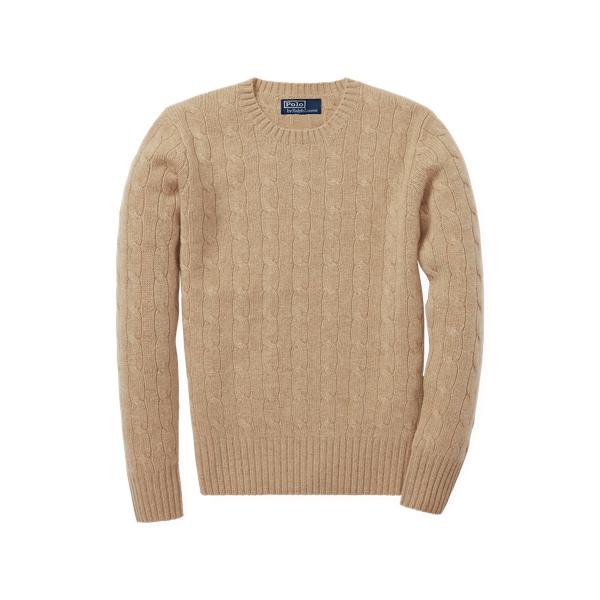 폴로 랄프로렌 보이즈 꽈배기 니트 스웨터 Polo Ralph Lauren Cable-Knit Cashmere Sweater,Camel Melange