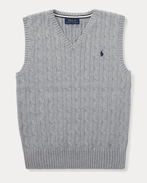 cf906ed334bb Cable-Knit Cotton Sweater Vest