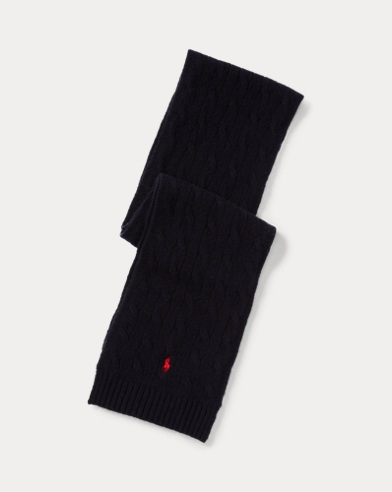 Cable-Knit Wool-Cashmere Scarf