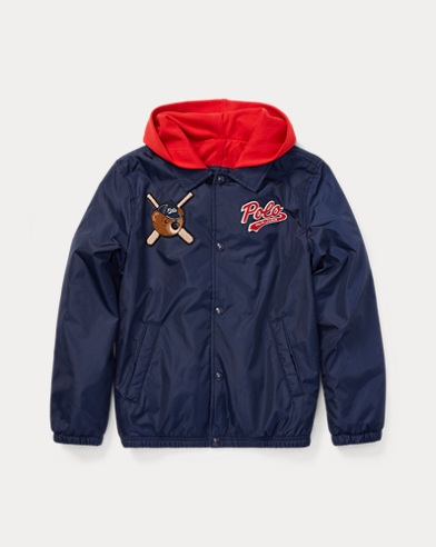 Polo Bear Hooded Coach Jacket