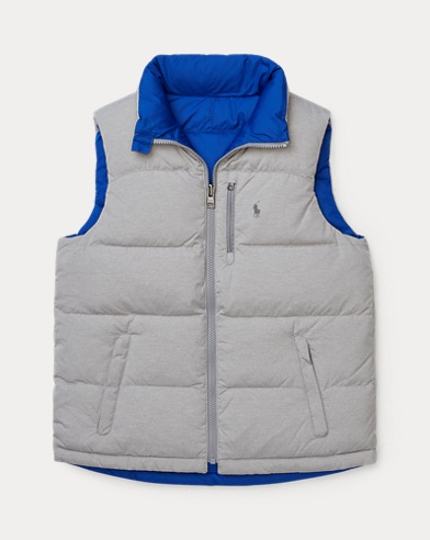 Gilet in piumino double-face