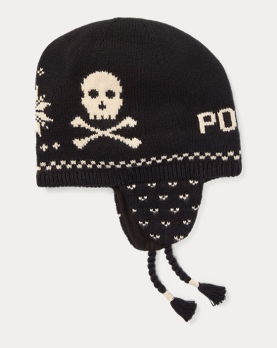 Skull Cotton-Wool Earflap Hat