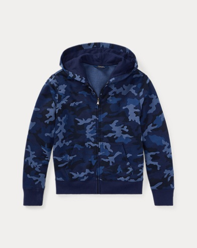 Camo Cotton-Blend-Terry Hoodie