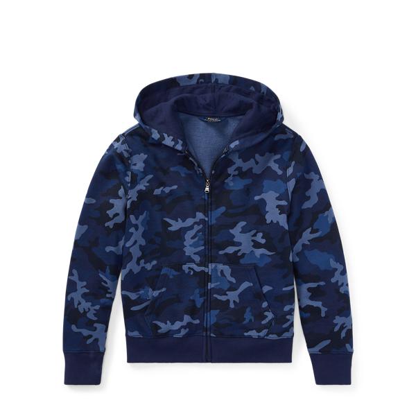 Ralph Lauren Camo Cotton-Blend-Terry Hoodie Blue Camo S