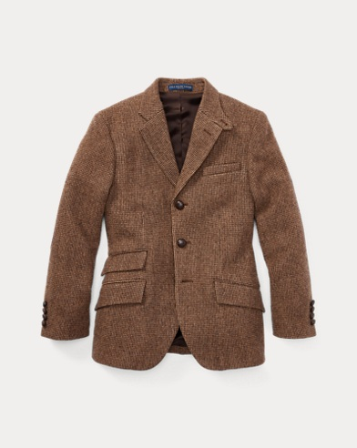 Tick-Weave Wool Sport Coat
