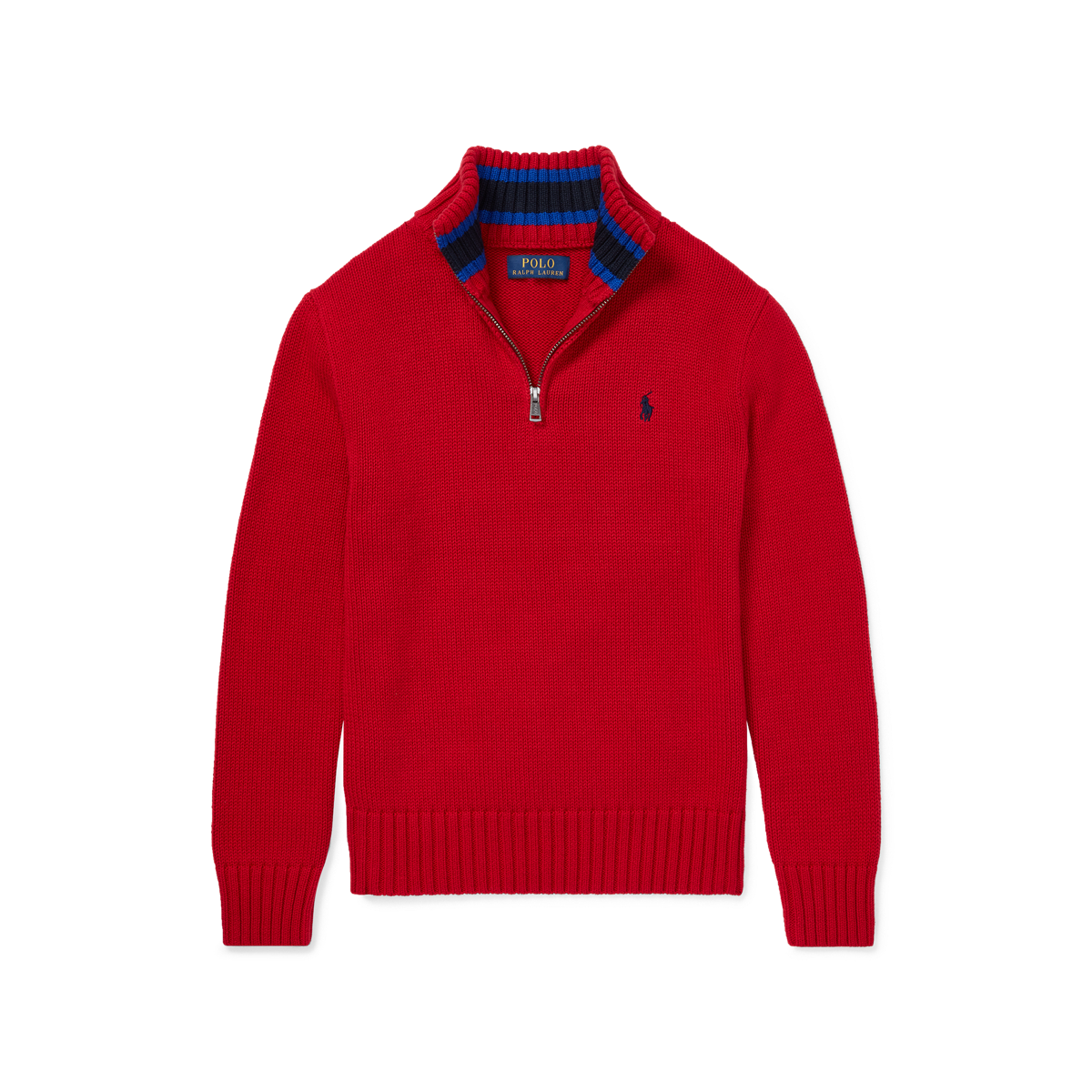 0ef86153b0a9 Cotton Half-Zip Sweater