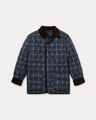 Plaid Quilted Car Coat
