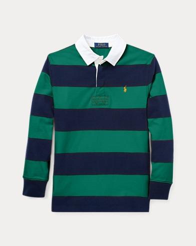 Gestreiftes Rugbyhemd aus Jersey