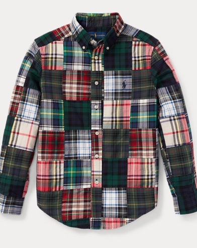 Patchwork Cotton Madras Shirt