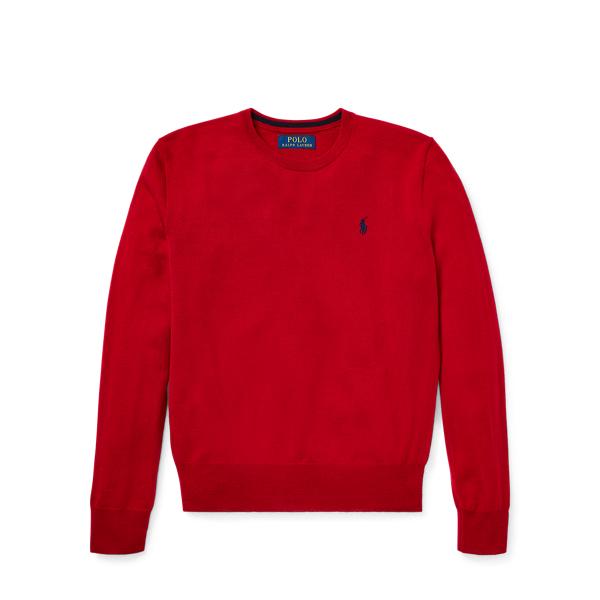 Ralph Lauren Merino Wool Crewneck Sweater Fall Red S