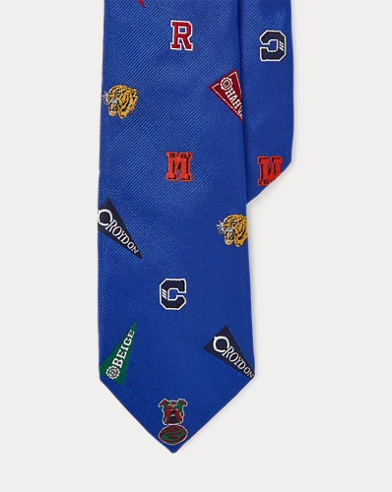 Patterned Silk Club Tie