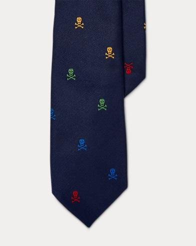 Skull-and-Crossbones Silk Tie