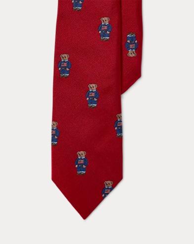 Polo Bear Silk Twill Tie