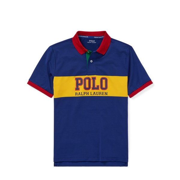 Ralph Lauren Performance Lisle Polo Shirt Sporting Royal Multi S
